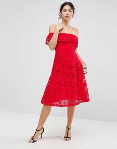 Kleid rot kurz asos