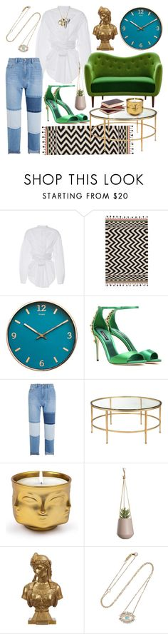 """Girl, Get That Green!"" by heybigtrender on Polyvore featuring E L L E R Y, Dolce&Gabbana, Steve J & Yoni P, Jonathan Adler, Suzanne Kalan and Coach"