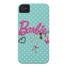 Barbie Name & Accessories iPhone 4 Covers