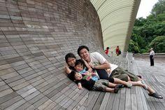 Beautiful bridge Henderson Waves (Henderson Waves Bridge), Singapore