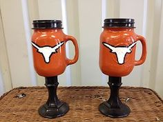 Redneck wine glasses my-style Cute Crafts, Diy And Crafts, Redneck Wine, Texas Longhorns, Create And Craft, Mason Jar Wine Glass, Holiday Crafts, Tea Pots, Glasses