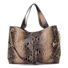 Michael Kors Astor Large Shoulder Bag Snake