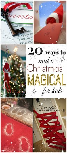 There are so many ways to make Christmas MAGICAL for your little ones. I feel like a kid again myself when I see the sparkle in my girls eyes. Here are 20 ways to fill their hearts and lives with the magic of the season.