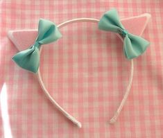 Dress up like the [prettiest persian kitty cat with this adorable cat ears headband topped with seafoam green bows. Adult sized, but will fit big girls too. Kitten Party, Cat Party, Cat Birthday, 6th Birthday Parties, Birthday Ideas, Cat Ears Headband, Ear Headbands, Cat Themed Parties, Persian Princess