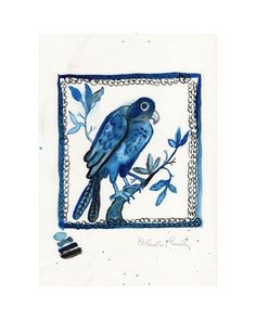 Parrot  The Shop Floor Project delved into the sketchbooks of British ceramicist Claudia Rankin, and found a series of beautiful watercolour sketches she'd made for her popular hand painted tiles. They brought to mindthe drawings at the V&A Museum of the tile designs from William De Morgan andGodfreySykes. We immediatelybegan work, transforming Claudia's studiesinto a limited edition print collection.