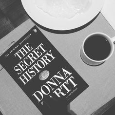 """Beauty is terror. Whatever we call beautiful, we quiver before it."" — Donna Tartt, The Secret History (1992) • Halfway to my second Tartt's after #Goldfinch. Brilliant story-telling. • #bookstagram #booksofinstagram #ShotoniPhone #breakfast #donnatartt #coffee"