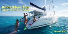 We have availability on luxury lagoon catamarans ranging from 34ft to 50ft for Xmas/ new Year in Tortola, BVI.  Contact us at charter@catamarans.com or visit www.catamarans.com
