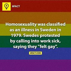 wonderful.....people are such hypocrites they refused to change their mind set.  Good for the Sweden's