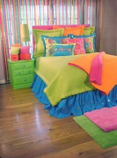 90 Beautiful Colorful Curtain Ideas To Make Amazing Scenery in Your Home Big Girl Rooms Amazing Beautiful Colorful Curtain Home Ideas Scenery Bedroom Design, Bedding Sets, Tween Girl Bedroom, Girls Bedroom, Bedroom Decor, Girl Room, Colorful Curtains, Room Makeover, Room