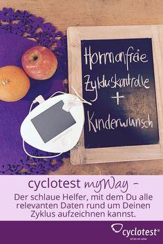 Den Zyklus auf natürliche Weise beobachten! Finde heraus, wann Du fruchtbar bist und lerne Deinen Zyklus besser kennen! cyclotest myWay dient nicht nur als Fruchtbarkeitsanalysegerät, sondern findet auch Verwendung als Zyklustagebuch. Neugierig geworden?