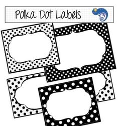 Labels and Digital Scrapbooking Papers - Black and White P