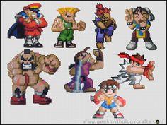 Street Fighter Bead Sprites by GeekMythologyStudios on deviantART