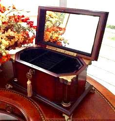 Wood Jewelry Box Bombay Company Mens Womens Chest Locking With Key