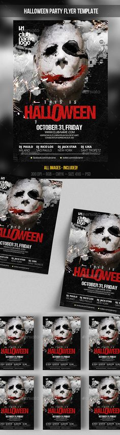 Halloween Flyer  Psd Template Splash Black  Download