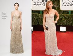 Isla Fisher In Reem Acra - 2013 Golden Globe Awards - this dress could make a nice sparkly wedding gown
