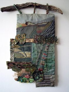 Wall hanging by Jenny Beasley. She used memories of a South Yorkshire childhood to inform this piece. I thought it deserved a wider audience so I persuaded her to let me photograph it. Mixed media