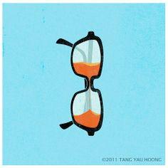 Half full or Half empty #zienrs #eyes #illustration