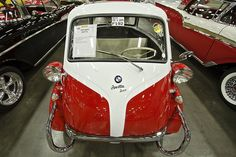 BMW Isetta 300 by HunterPhillips, via Flickr Bmw Isetta, Small Cars, Mini, Bubble, 1950s, Automobile, Ford, Vehicles, Vintage Cars