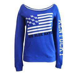 "Kentucky Wildcats ""Flag/Nation"" Boatneck"