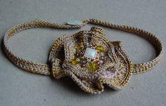 crocheted flower choker | Flickr - Photo Sharing!