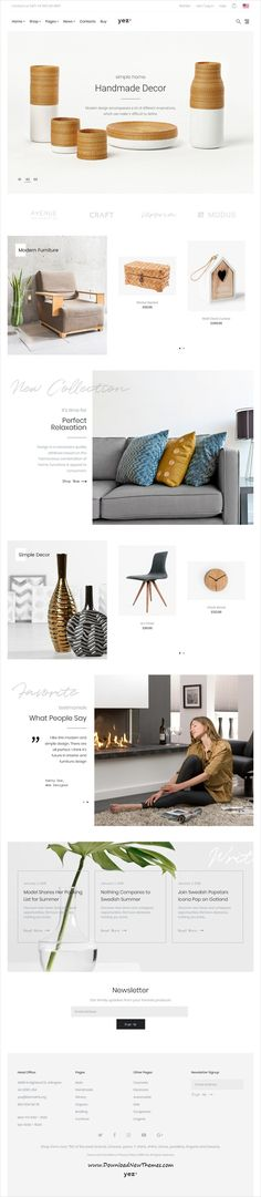 Yez is clean, stylish and modern design 12+ responsive WooCommerce #WordPress theme for #furniture #decor #shopping eCommerce #website to live preview & download click on image or Visit