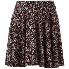 LC Lauren Conrad Floral Circle Skirt ($30) ❤ liked on Polyvore featuring skirts, circular skirt, floral circle skirt, floral skater skirt, lc lauren conrad and elastic waist skirt