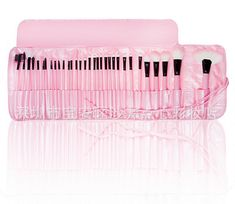 PINK Make Up Cosmetic Makeup Brushes Kit Set with Case