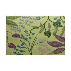 Botanical Floral Print Rug (5 x 7)
