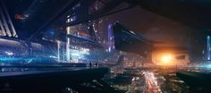 http://wardenlight.com/portfolio/various_works/  Sunset city by Bastien Grivet