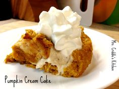 A Pumpkin Cream Cake that is THM approved and tastes like the insides of a pumpkin pie!