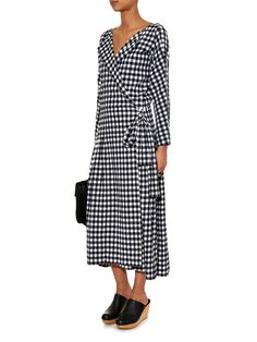 06ee28cc24f56 Chloé Gingham cotton wrap dress - Love this look