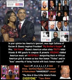 The Obama's scarred, HATEFUL friends