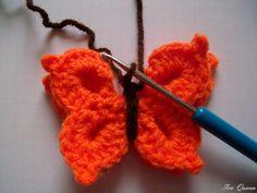 Schmetterling 20 Crochet Fairy, Crochet Butterfly, Crochet Keychain, Crochet Earrings, Textiles, Amigurumi Doll, Free Pattern, Crochet Patterns, Stitch