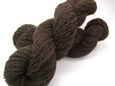 Recycled yarn - brown wool, bulky weight