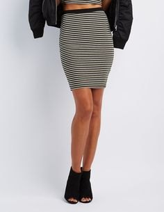 Striped Pencil Skirt | Charlotte Russe