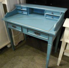 """Pastel Blue Desk  T029 - $295  39""""W x 23""""D x 39.5""""H  #NadeauNashville"""