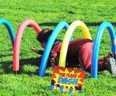 SUPERHERO Party- Superhero Games for Kids- Superhero Birthday Party - Comic Party- Superhero Games for kids obstacle course Avengers Birthday, Superhero Birthday Party, Birthday Party Games, 6th Birthday Parties, 4th Birthday, Super Hero Birthday, Incredibles Birthday Party, Birthday Ideas, Boy Party Games
