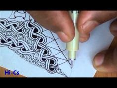 """Rick Roberts and Maria Thomas, creators of Zentangle®, show how to tangle """"betweed."""" Zentangle is an easy to learn and relaxing method of creating beautiful . Doodles Zentangles, Tangle Doodle, Tangle Art, Zentangle Drawings, Zen Doodle, Doodle Drawings, Doodle Art, Doodle Patterns, Zentangle Patterns"""