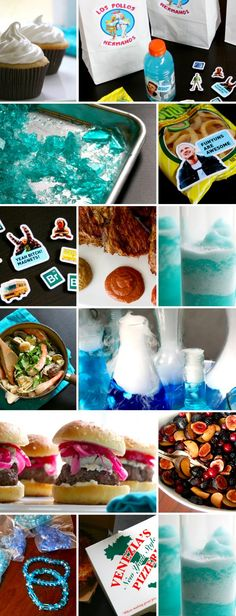 Breaking Bad Party Ideas and Menu – Bakin' Bit - Einweihungsfeier Ideen Breaking Bad Party, Breaking Bad Birthday, Laura Lee, Breking Bad, Party Entertainment, Food Themes, Party Planning, Party Time, Halloween Party