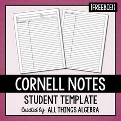 Avid Cornell Notes Template Word Doc  Invitation Templates  Home