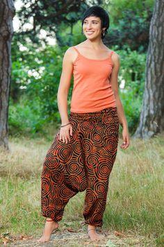 Штаны-алладины Helix, оранжево-красные, Штаны, магазин индийских товаров — madeinasia.com.ua