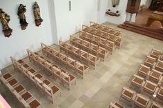 baroque church meets modern furniture architecture design renovation church wittmann chairs austria
