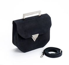 Black Leather Clutch / Evening Leather by EllenRubenBagsShoes
