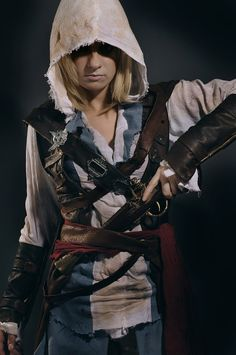 Edward Kenway (from Assassin's Creed IV: Black Flag) by Alexa Karii #Rule63 #Cosplay