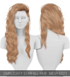 Sims 4 CC's - The Best: STARFALL HAIR (MESH EDIT) by simpliciaty-cc