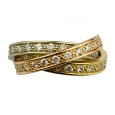 My humble opinion: the Russians got it better than the Celts. Three bands: blessings from the triune God. Yellow gold: marriage takes hard work. White gold: marriage requires adaptability and compromise. Rose gold: marriage is precious, to be protected and cherished.