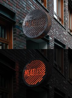 restaurant concept Corporate Identity in brutal style for a new meat restaurant in the city center of Moscow Grill is a major feature of the restaurant concept which is reflected in the Identity.Designed for the Bureau Bumblebee Meat Restaurant, Restaurant Concept, Restaurant Branding, Architecture Restaurant, Restaurant Interior Design, Wayfinding Signage, Signage Design, Retail Signage, Environmental Graphics