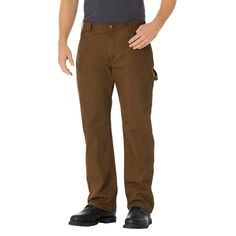 Dickies Men's Relaxed Straight Fit Lightweight Duck Canvas Carpenter Jean-