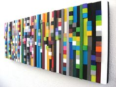 Wall Art Wood Sculpture Wood Cubes by RusticModernDesigns