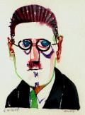 Dubliners (James Joyce) - Notes by Bob Williams James Joyce, Finnegans Wake, Francis Bacon, Writers And Poets, Bibliophile, Literature, Bob, Eyes, Portrait